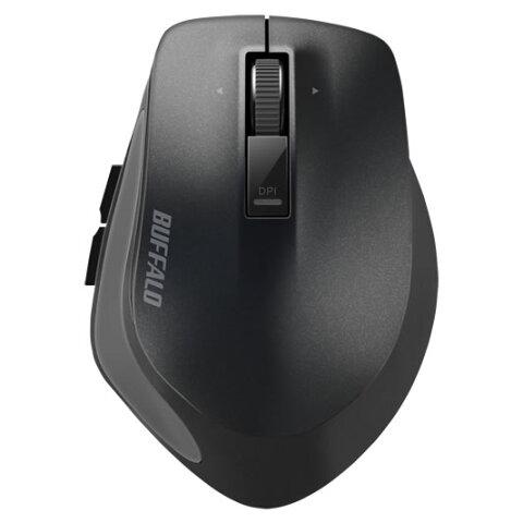 【お取り寄せ】BUFFALO(バッファロー)Bluetooth BlueLED プレミアムフィットマウス Mサイズ ブラック |BSMBB500MBK