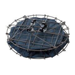 【お取り寄せ】AZUMAYA(東谷)折り畳み式フォールディングバスケットグリーン|MIP-90GR
