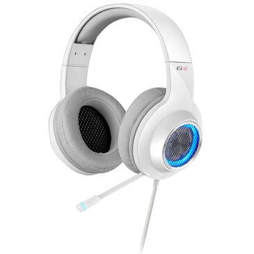【お取り寄せ】プリンストンテクノロジー EDIFIER社製 7.1chバーチャルサラウンドサウンド対応ゲーミング用ヘッドセット G4 (ホワイト)  ED-G4WH