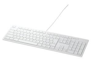 BUFFALO(バッファロー)_USB接続有線キーボードMacモデル(BSKBM01WH)