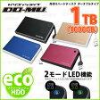 【外付けハードディスク】【USB3.0 1TB】 DO-MUオリジナル Eco Portable USB3.0 1TB (BTOHD-EcoPortable_R10-01) 【送料無料】【RCP】