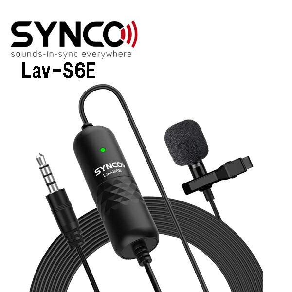 SYNCO-ピンマイク-全指向性コンデンサー-録音マイクスマホ/DSLRカメラに対応スマホマイク6Mケーブルノイズ低減高音質La