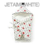 BORNYjetaime-whiteおくるみ肌に優しい綿100%出産祝いギフトおくるみ
