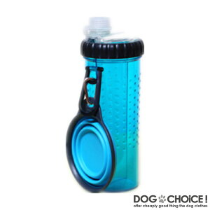 【SnackDuo/スナックデュオ】わんちゃんのお散歩やお出かけ時に最適な水とおやつが入れられる2in1ボトル