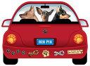 犬 ステッカー 多頭飼い 3頭 3匹 【Mサイズ】 犬 ステッカー 車 ステッカー 犬ステッカー 名前 ネーム オリジナル 犬 ステッカー オーダー かわいい かっこいい おしゃれ 犬ステッカー おしゃれ 3犬種 三犬種 三匹 三頭