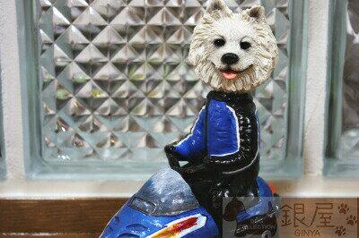 コミカル・ドッグフィギュア ヘッド 【サモエド】輸入雑貨 犬雑貨 犬グッズ