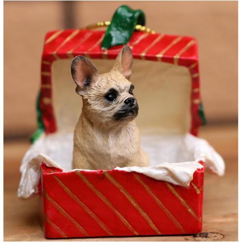 【フレンチ・ブルドッグ Fawn】ギフトボックス・オーナメント/レッドBOX輸入雑貨・犬グッズ・犬雑貨・クリスマス 【RCP】【楽ギフ_包装選択】