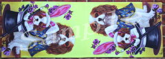 テーブルランナー 【キャバリア・キング・チャールズ・スパニエル】【Cavalier King Charles Spaniel Spring Magic】[犬雑貨専門店 銀屋]