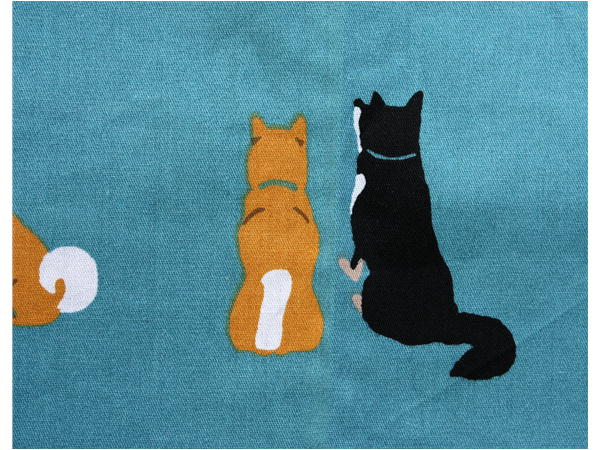 ランチクロス しばとも ブルー【犬雑貨・犬グッズ・柴犬・黒柴】