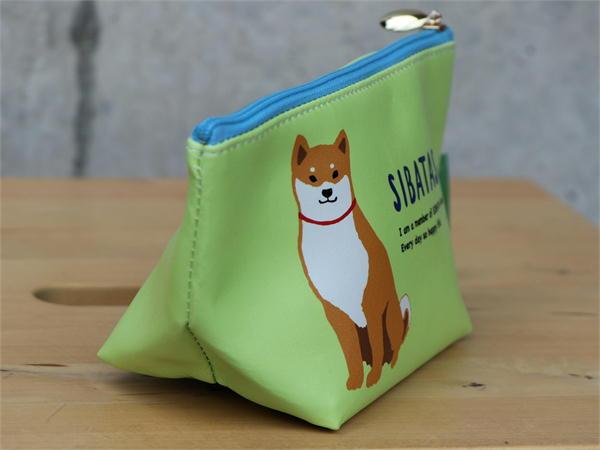 マチ付ポーチ コミックしばたさん【犬雑貨・犬グッズ・柴犬】