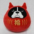 もちふわクッションSサイズブルトンダルマ【犬雑貨・犬グッズ・フレンチブルドッグ/フレブル】