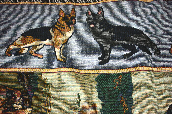 ゴブラン織り タペストリーシェパード輸入雑貨 犬雑貨 犬グッズ