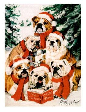 クリスマスカード Ruth【ブルドッグ】輸入雑貨 犬雑貨 犬グッズ クリスマス クリスマスカード Xmas