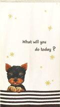 暖簾【のれん】YorkieWithStar【犬雑貨・犬グッズ・ヨークシャーテリア・ヨーキー】