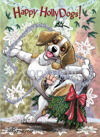 Holidayクリスマスカード【ビーグル】輸入雑貨犬雑貨犬グッズ