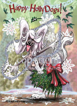 Holidayクリスマスカード【チャイニーズ・クレステッド・ドッグ】輸入雑貨 犬雑貨 犬グッズ