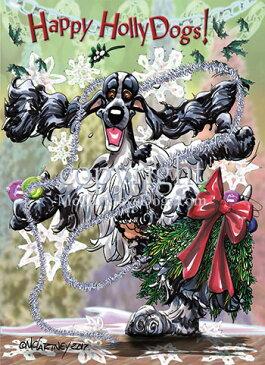 Holidayクリスマスカード【イングリッシュ・コッカー・スパニエル】輸入雑貨 犬雑貨 犬グッズ