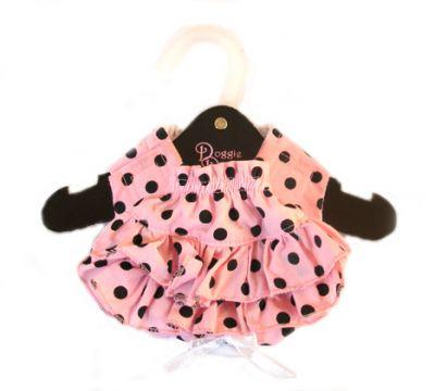アクセサリー・小物, マフラー DOGGIE DESIGN Ruffled Pink Black Polka Dot Panties-