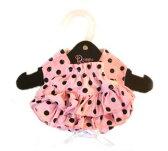 【DOGGIE DESIGN ドギーデザイン】Ruffled Pink & Black Polka Dot Panties(犬用パンツ-水玉ピンク)【あす楽対応】【メール便対応】