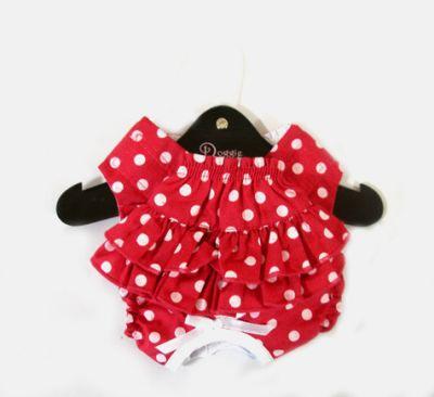 アクセサリー・小物, マフラー DOGGIE DESIGN Ruffled NEW Red White Polka Dot Panties-