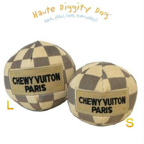 おもちゃ, ぬいぐるみ Haute Diggity DogChecker Chewy Vuiton plush ball ToyLarge ( L