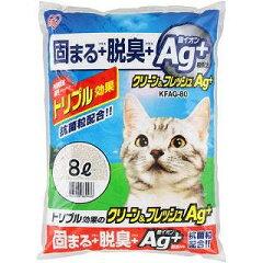 ペット館特別価格♪[猫砂・ネコ砂]【17%OFF】クリーン&フレッシュAg+KFAg-80 8L[猫砂・ネコ...