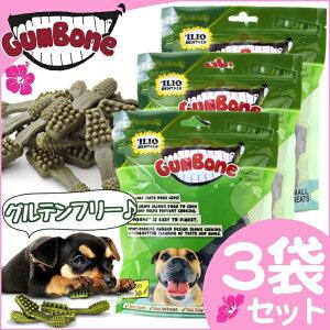 【3袋セット】GumBone(ガムボーン) 330gハワイで大人気♪ グルテンフリーの歯みがきガム【D】[食物アレルギーに配慮][XS S M L][犬 いぬ イヌ ドッグ デンタル ハミガキ 歯磨き フード おやつ ツリーツ ジャーキー まとめ買い]【RCP】