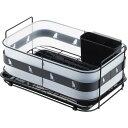 クロネコキッチン 水切りカゴ ブラック 1305628水切りラック 水切りカゴ 水切りトレー 皿たて 水切りラ...