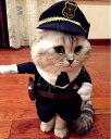 警察官 (二足歩行) コスプレ テレビで話題 ポリス ハロウィン 仮装 猫 チワワ ダックス トイプードル ドッグウェア 犬服 犬 服 メール便 送料無料