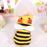 ミツバチ柄ドッグウエア、ワンちゃんコスプレ♪