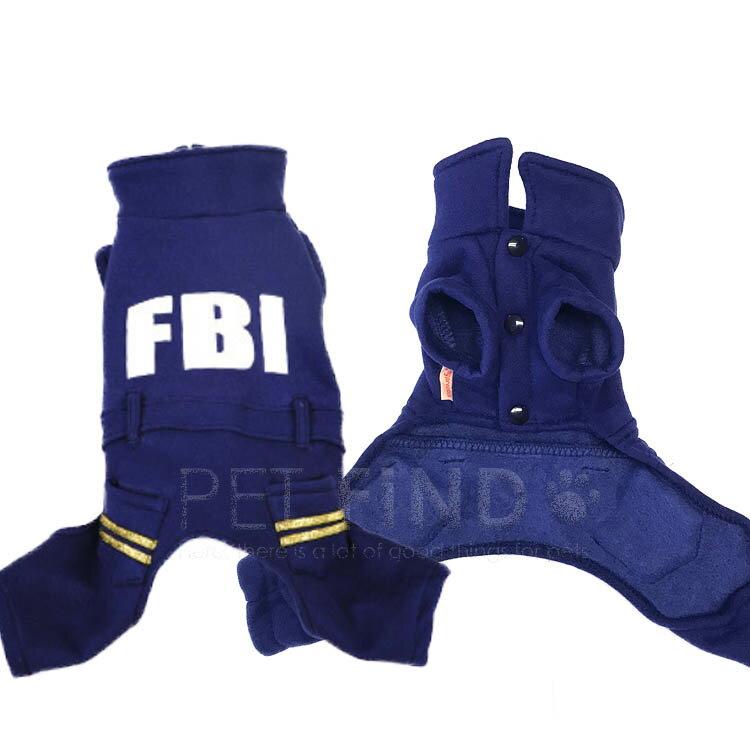 FBIロンパース つなぎ カバーオール ドッグウエア (犬 服 猫服)