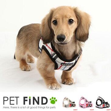 犬 胴輪 ハーネス PUPPIA(パピア) ペット ペットグッズ 犬用品 胴輪 ハーネス 小型 中型 犬用ソフトベスト チェック柄 かわいい 可愛い ハーネス XLサイズ ドッグ用品 pama-ah978