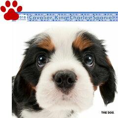 【6】2018年 国内版 THE DOG 壁掛け カレンダー キャバリア シール付き(2017年9月から18年12月) 犬種別 ザ・ドッグ ザドッグ[ナチュラルスタイル for dog&cat]