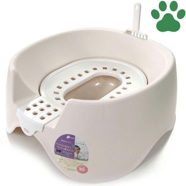 【110】 リッチェル コロル 節約簡単ネコトイレ ベージュ スコップ付 猫トイレ 便座型