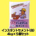 工事・作業用 インスタントセメント(白)4kg×5個セット【570909SET】【送料無料】