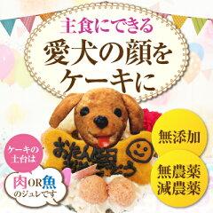 犬 ケーキ(無添加 誕生日ケーキ)似顔絵 犬用ケーキバースデー・クリスマスケーキ・誕生日のギフトに[犬のご飯とケーキのドッグダイナー]