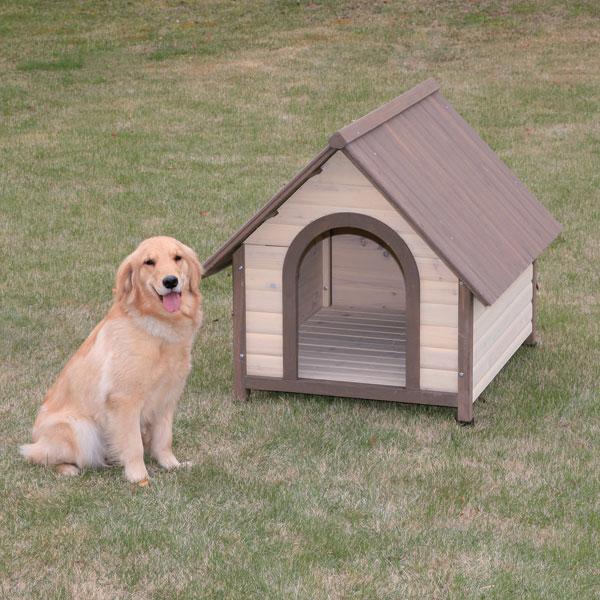 大切なワンちゃんに天然木ならではのナチュラルな風合いの犬舎9,600円【送料無料】大型犬に!