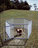 ≪犬小屋≫【送料無料】パイプ製ペットサークル UC-106[大型犬用 屋外用 アイリスオーヤマ 中型犬] 楽天
