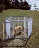 パイプ製ペットサークル UC-126 (高さ120cm) 送料無料 犬 サークル プラスチック製 屋外 野外 室外 ハウス ドッグサークル ペットサークル 囲い 柵 ペット用品 アイリスオーヤマ ドッグパーク 楽天