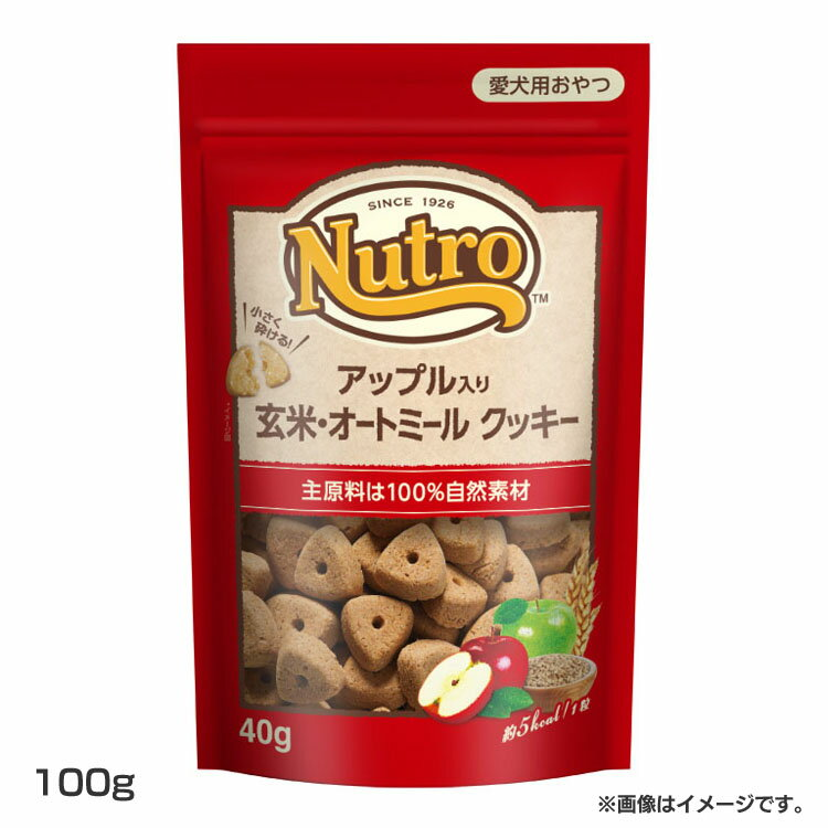 NCT107 アップル入り 玄米・オートミール クッキー100g NCT107ペットフード ニュートロ おやつ 自然食材 栄養 フルーツ サクサク 犬 ドッグ マース 【D】【拡】