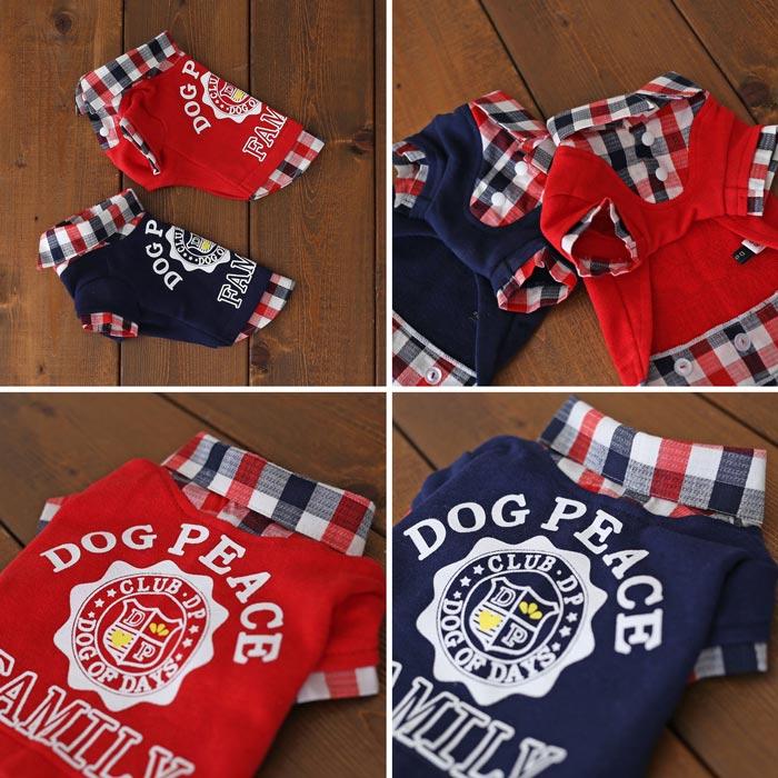 【メール便対応】ファミリーレイヤードシャツ【マッチングスタイル対応】【犬服】【ドッグウェア】【ドッグピース】