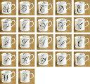 ROSANNA・ロザンナ【イニシャリーユアーズマグカップ】イニシャル、ギフト、贈り物、引き出物、ペアカップ、バレンタイン