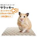 洗えるペットシーツ「ワンダーマット・サラッキー・カットタイプ」CSサイズ(35cm×50cm/吸水約260cc)3枚セット・高吸水・消臭抗菌
