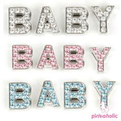 着後レビューを書いて5%OFF!イニシャルレター「BABY」☆【PINKAHOLIC N.Y.】ピンカホリック/n...