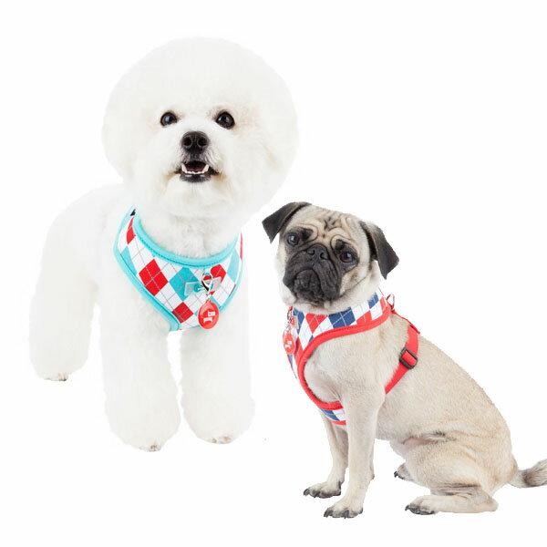犬用 胴輪 アーガイルハーネスA:XLサイズ PUPPIA パピア 犬 ペット ドッグ 小型犬