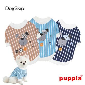 狗潮 t 恤 s、 M、 L 尺寸 PUPPIA 紙狗寵物狗衣服