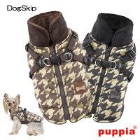 犬用/ドッグストゥースハーネスジャンパー/DOGSTOOTH/S,M,Lサイズ/PUPPIA/パピア/犬/ペット/ドッグ/洋服/ダウン