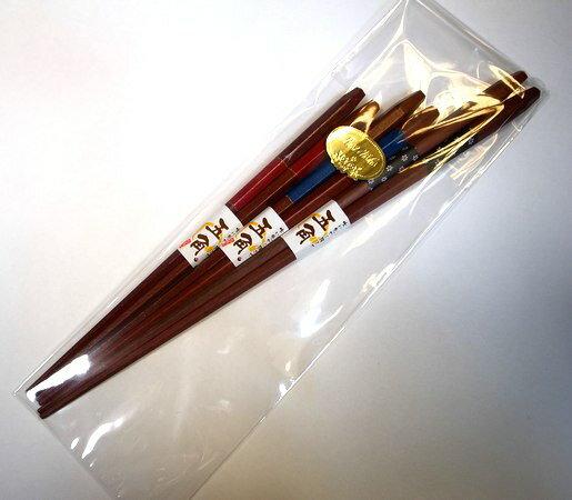 夫婦箸と菜箸のセット「五角漆市松」