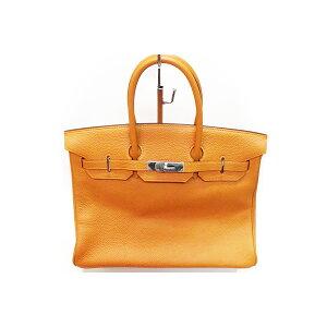 HERMES Birkin 35□H刻有盒子, 袋子, 防雨罩, 卡德纳, 钥匙扣的橙色钥匙[二手] [受欢迎] [未使用的物品] .5501。