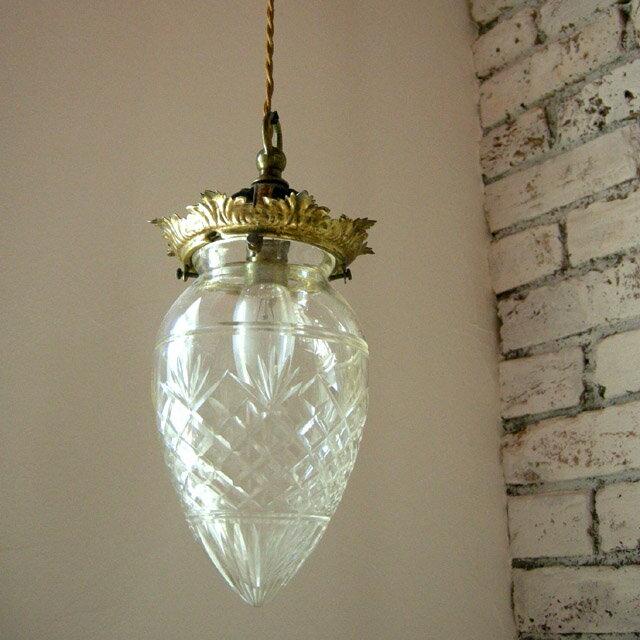 Antique Lamp Shades Glass: Antique lamp shade cut glass drop-shade,Lighting